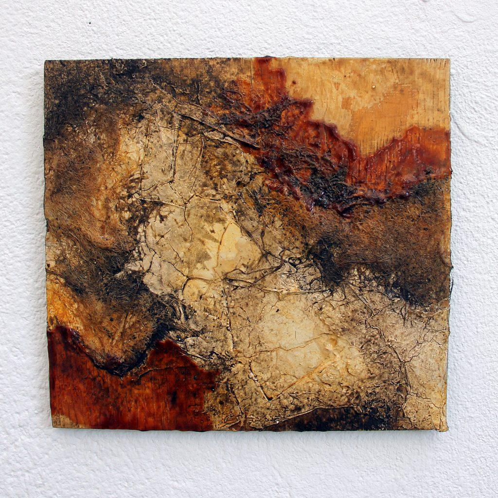 abstrakte Malerei Naturmaterialien Kunst Naturtöne zeitgenössische Kunst künstler strukturmalerei Strukturbilder resp. Rebecca Speth