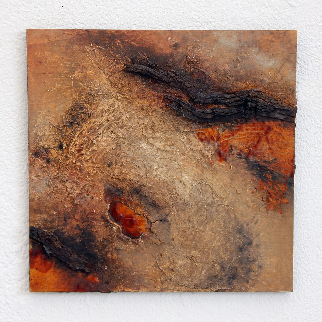 abstrakte Malerei Schellack Naturmaterialien Kunst Naturtöne zeitgenössische Kunst künstler strukturmalerei Strukturbilder resp. Rebecca Speth